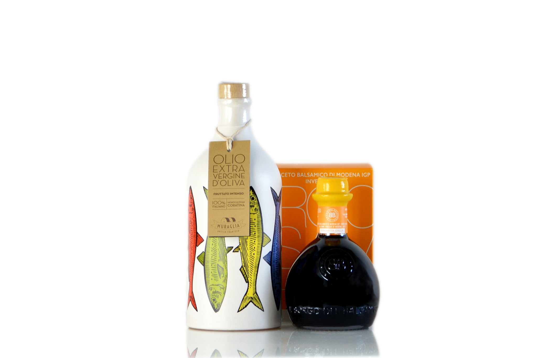 Extra Virgin Olive Oil & Balsamic Vinegar Modena IGP Condiment Set