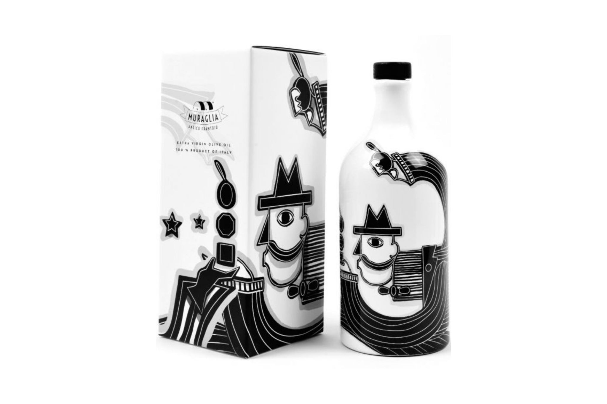 Frantoio Muraglia Artist Pierpaolo Gaballo Limited Edition The Man with the Hat Intense Fruity Extra Virgin Olive Oil 500ml