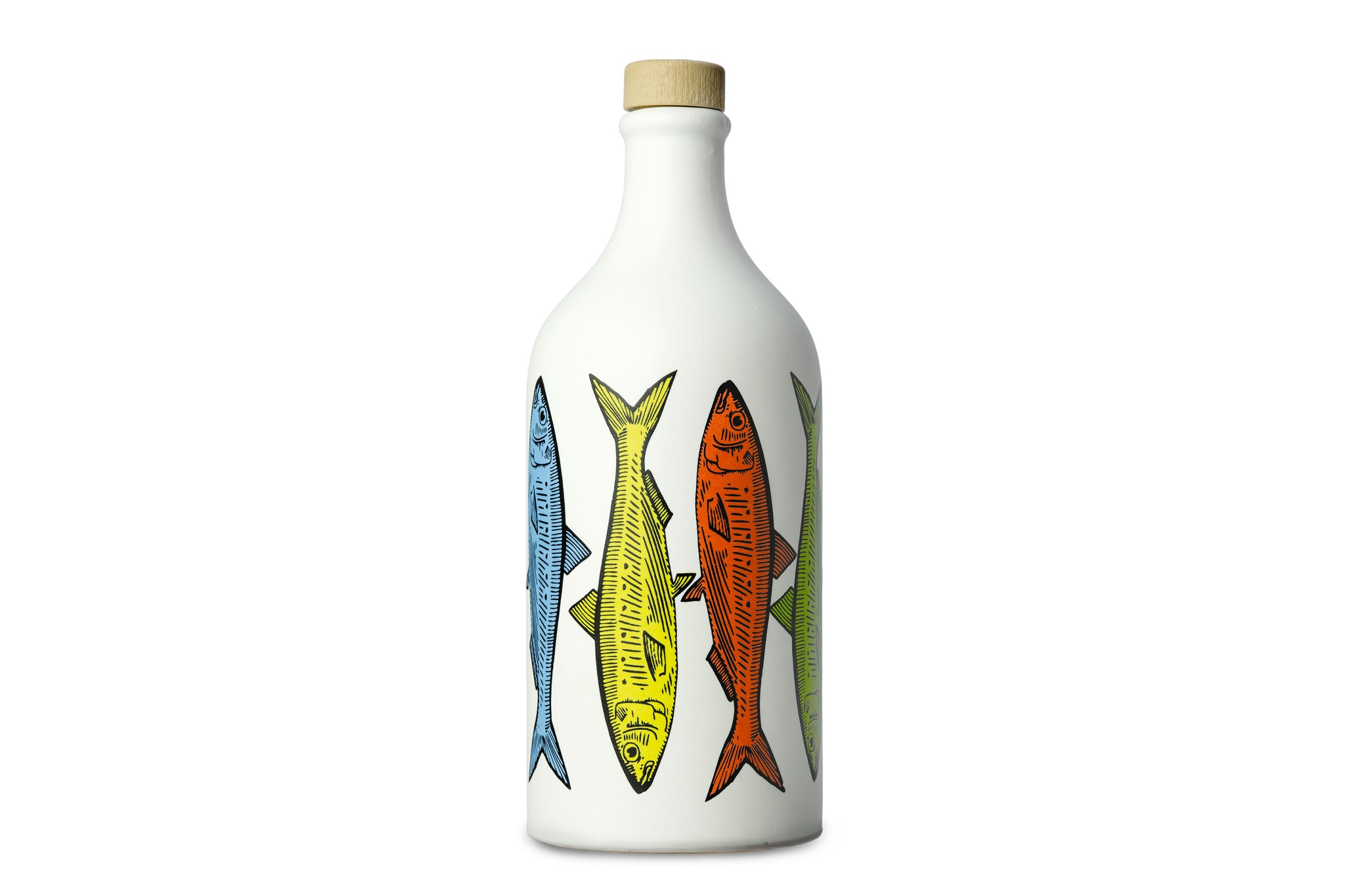 Frantoio Muraglia Extra Virgin Olive Oil in Pop Art Ceramic Bottle Sardines - Exclusive to the UK - Buy Authentic Italian Food on the Red Beetle Shop
