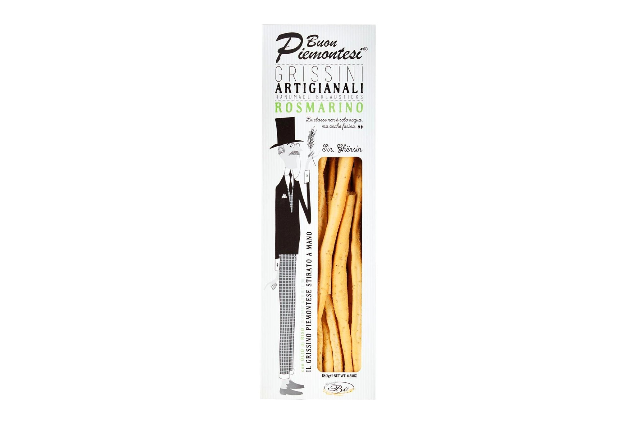Grissinificio Bo Grissini Rosemary Recipe Artisanal Breadsticks 180g