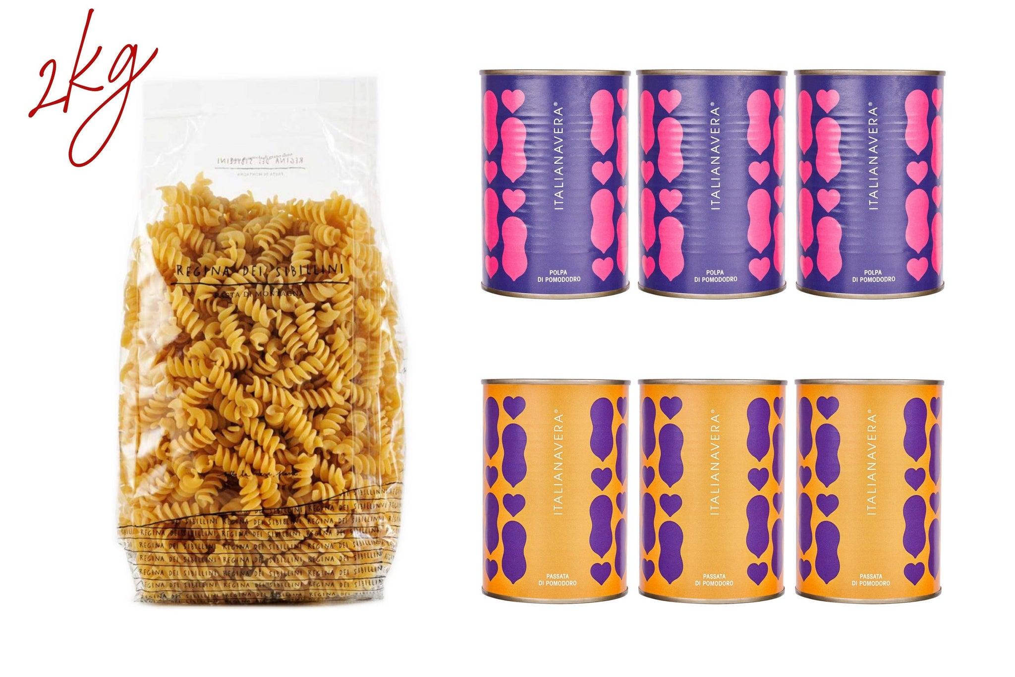 Mamma Pack. Pantry Essentials: Mountain Pasta & ItalianaVera Tomatoes