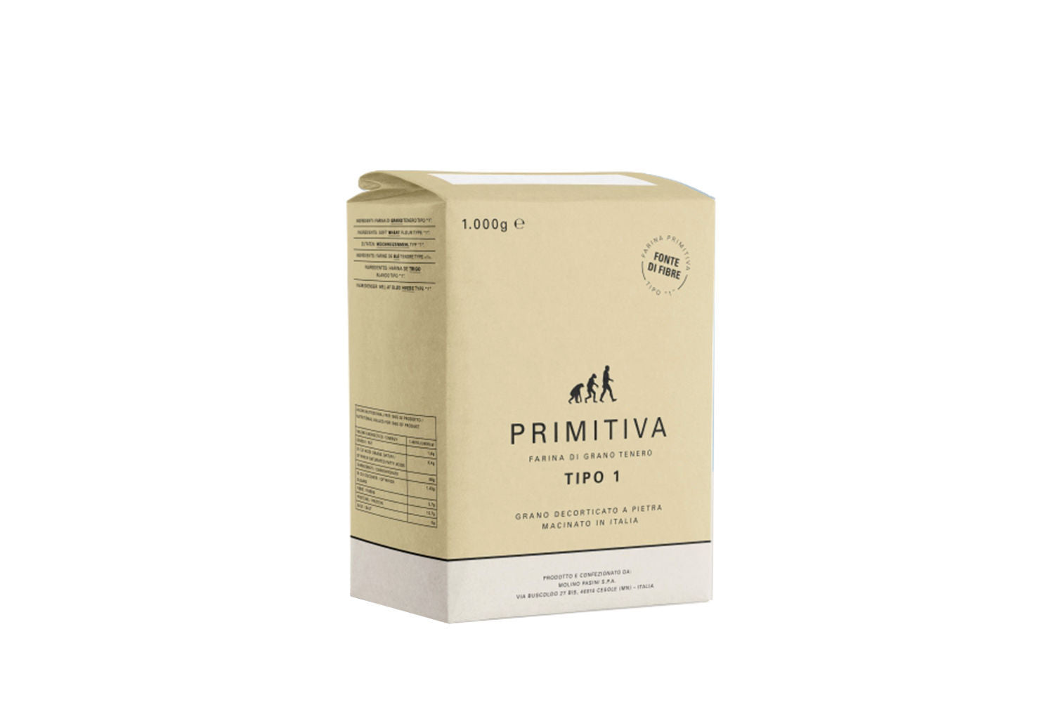 Primitiva 300 Type 1 Wholewheat Flour Ideal for Pizza Bread and Pastry 1KG