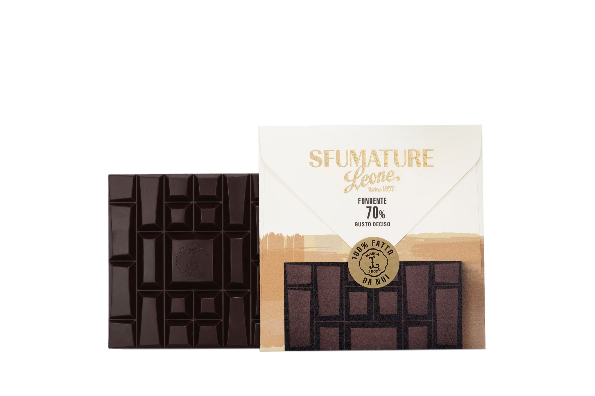 Pastiglie Leone Sfumature 70% Bean to Bar Dark Chocolate Intense 75g