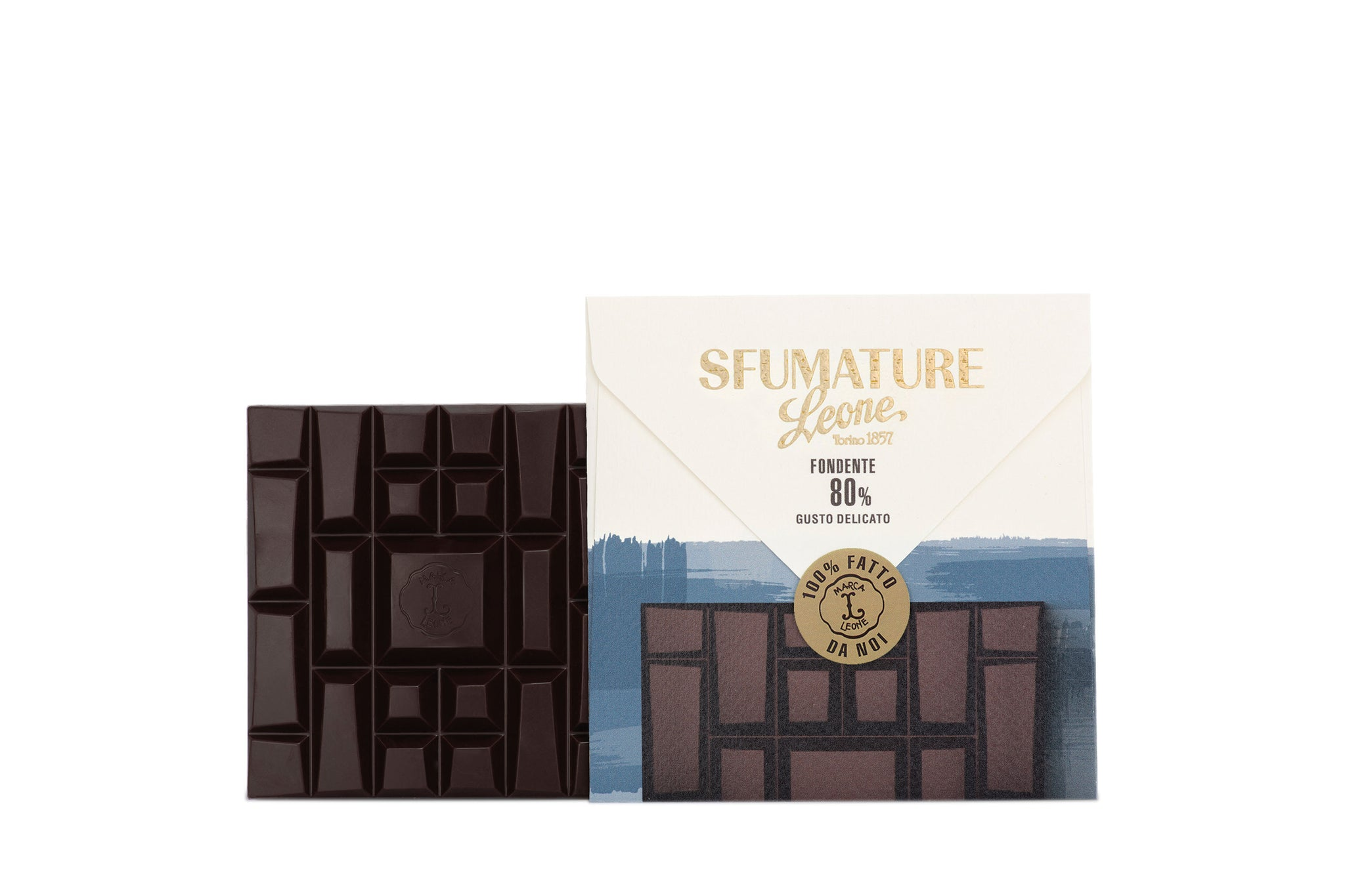 Pastiglie Leone Sfumature 80% Bean to Bar Dark Chocolate Delicate 75g