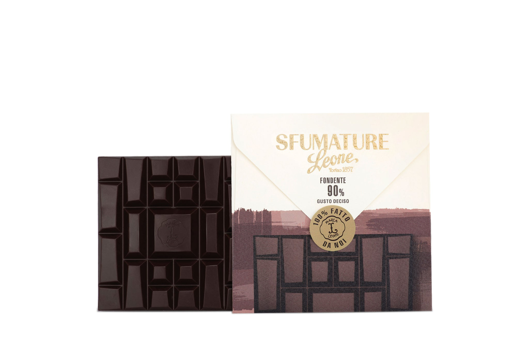 Pastiglie Leone Sfumature 90% Bean to Bar Dark Chocolate Intense 75g