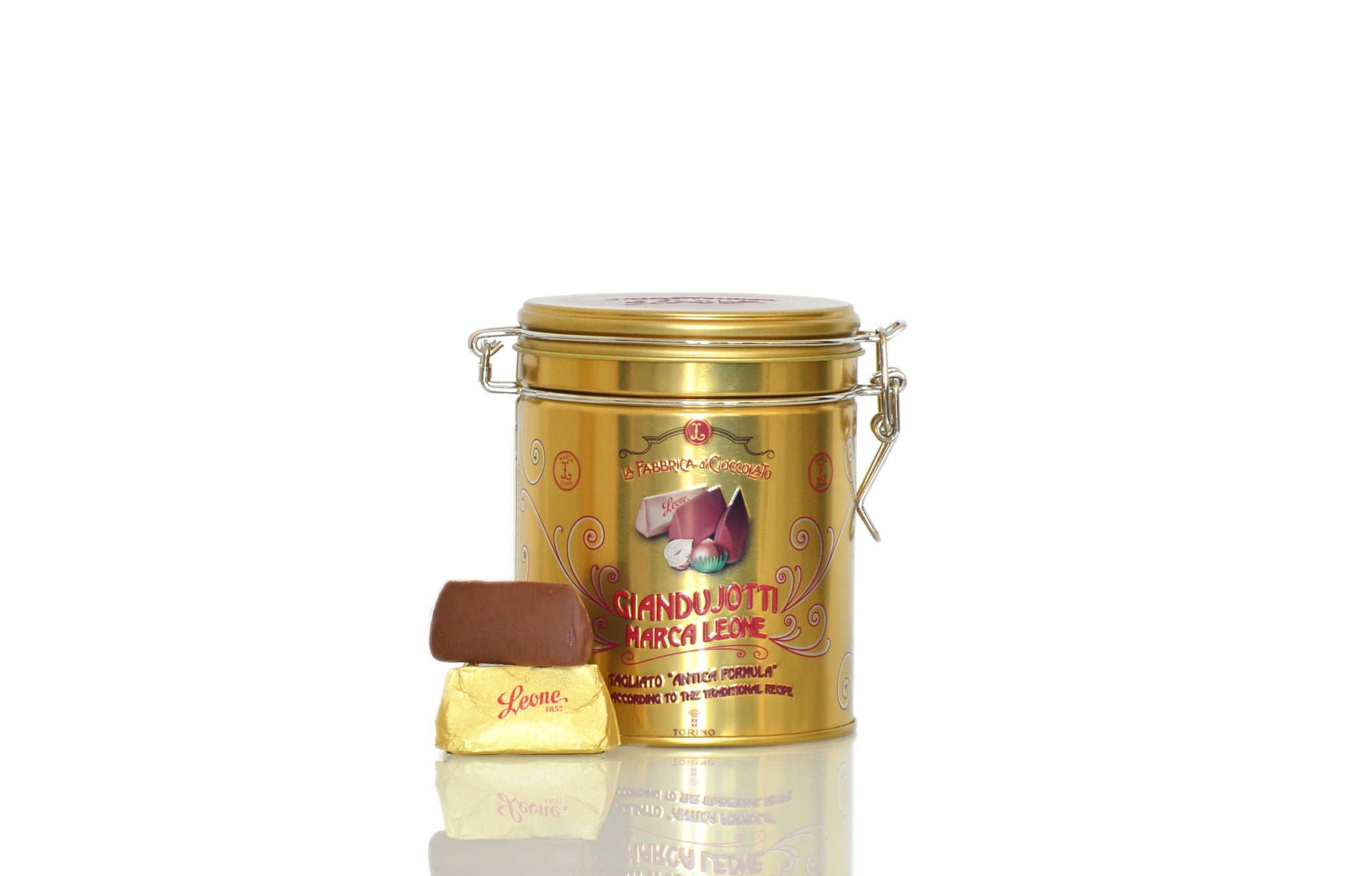 Pastiglie Leone Giandujotti Traditional Hazelnut Praline from Piedmont 135g | Shop the Red Beetle