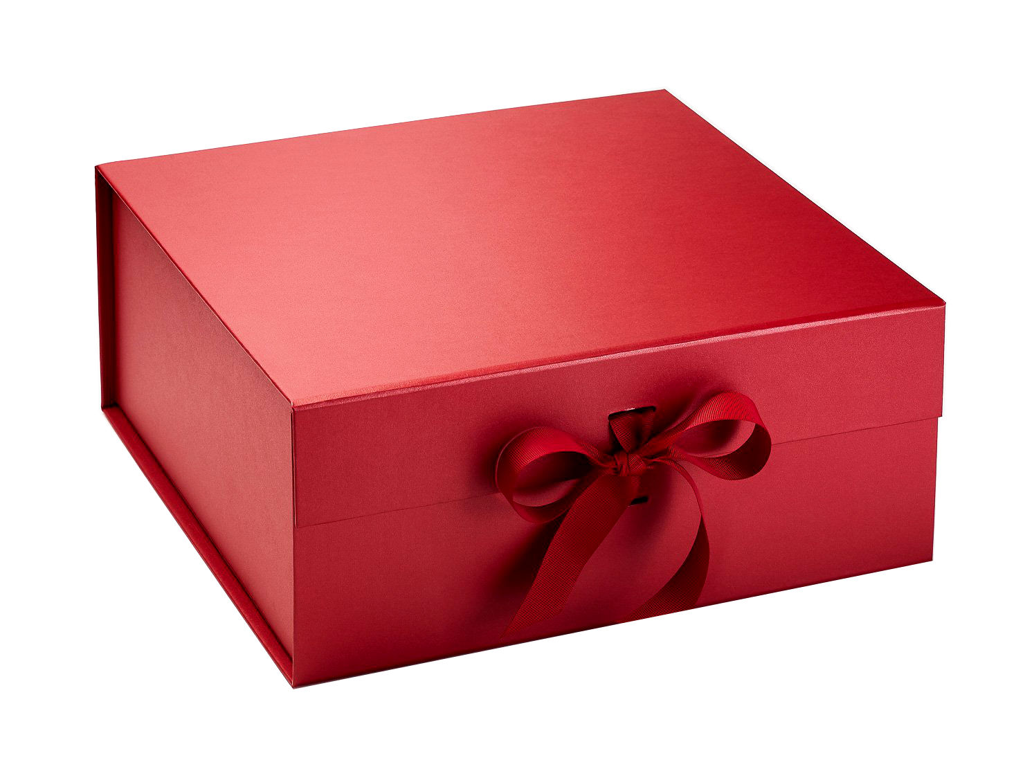 Create Your Own Hamper. Luxurious Red Gift Box with Grosgrain Ribbon