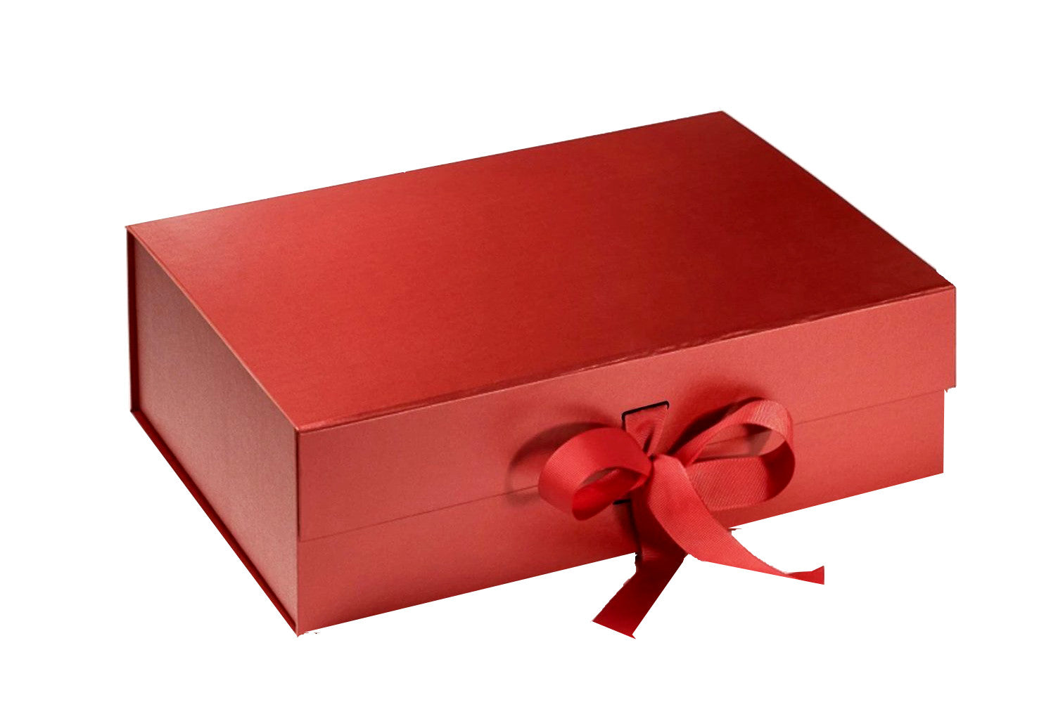 Create Your Own Christmas Box. Luxurious Red Gift Box with Grosgrain Ribbon (M)