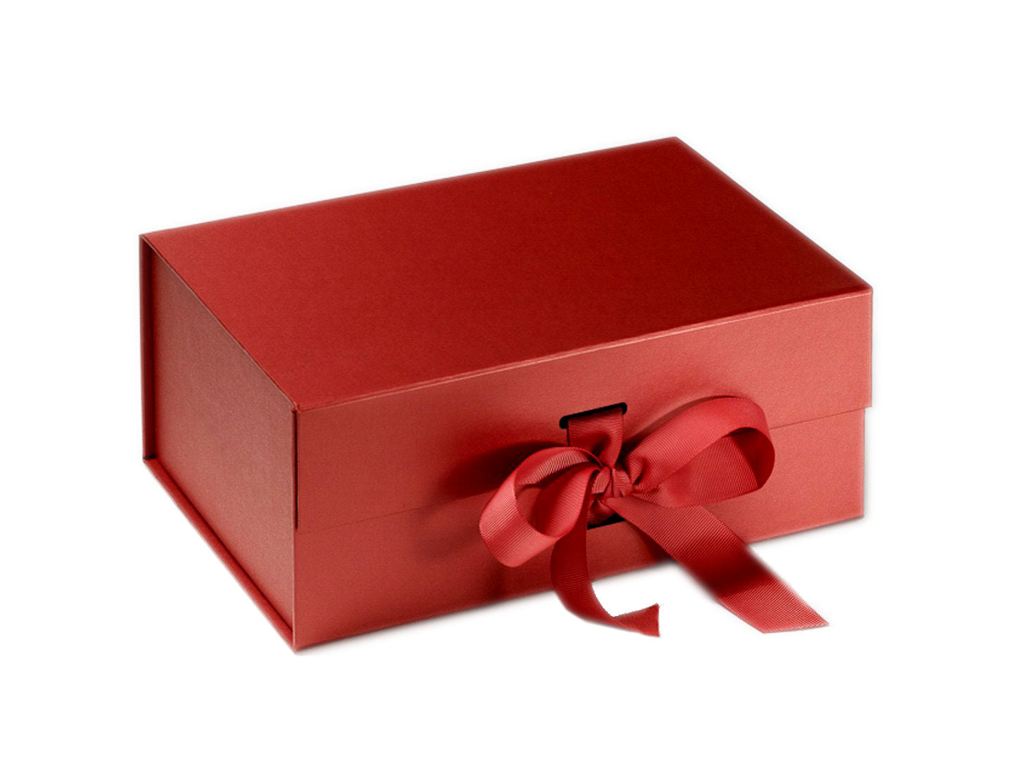 Create Your Own Christmas Box. Luxurious Red Gift Box with Grosgrain Ribbon
