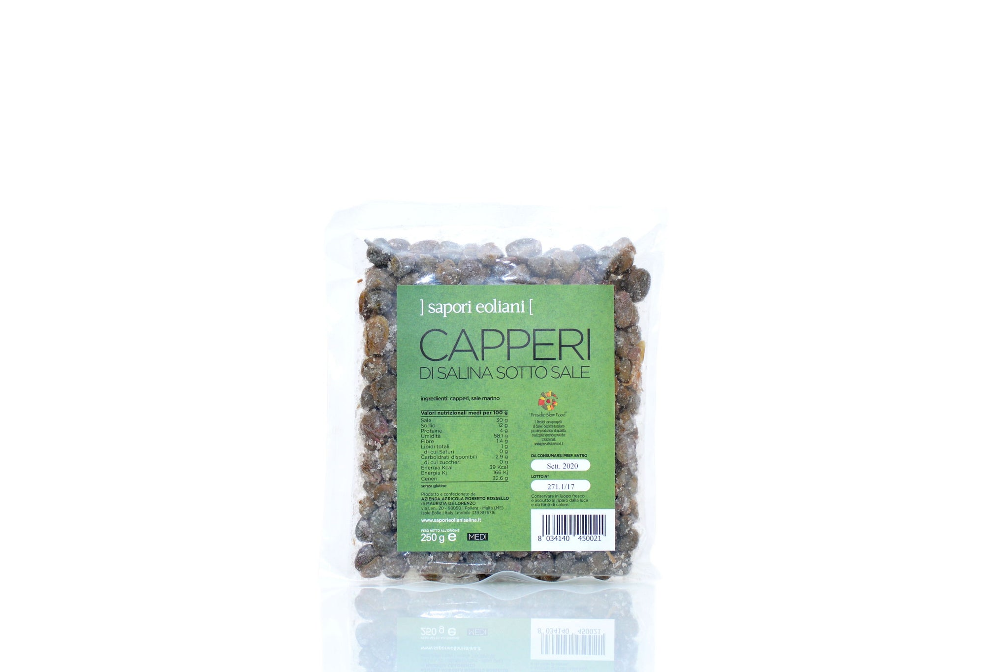 Sapori Eoliani Medium Capers in Salt 250g Shop Authentic Italian Food on the Red Beetle