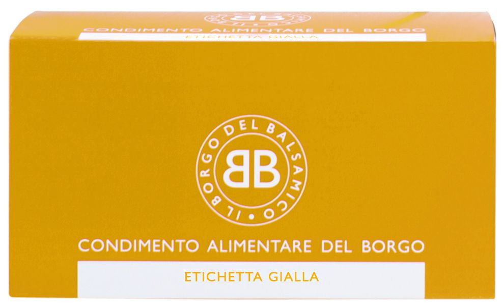 Il Borgo del Balsamico Balsamic Condiment Single Use Sachets Yellow Label - the Red Beelte Travelling Food