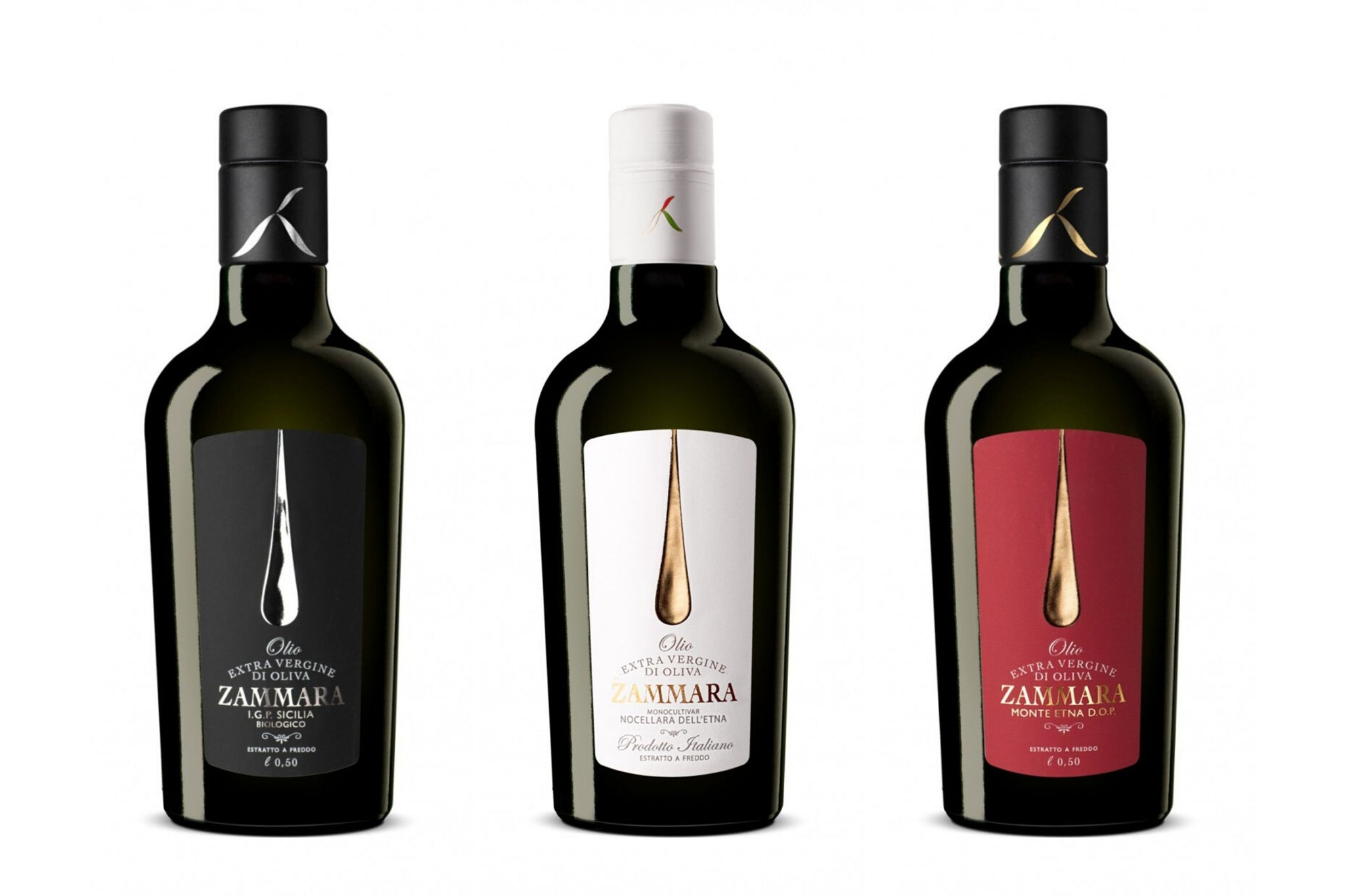 Zammara Collection. Organic IGP Sicily, Monte DOP & Nocellara Etnea Extra Virgin Olive Oil 500ml