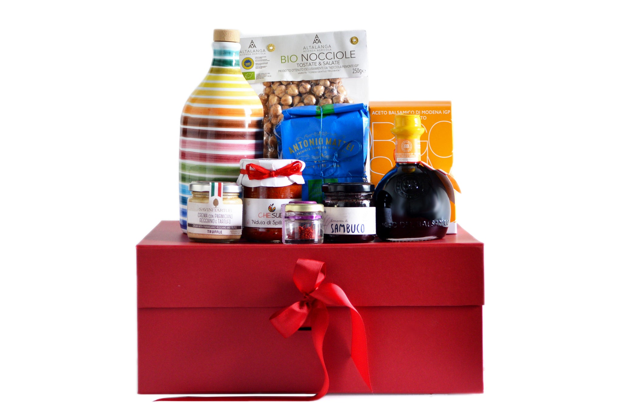 An Italian Journey. Italian Regional Hamper in a luxurious Red Box. Only the best Italian products. Limited Edition