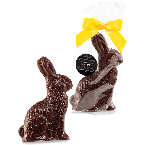 SALE 6oz. Solid Dark Chocolate Bunny