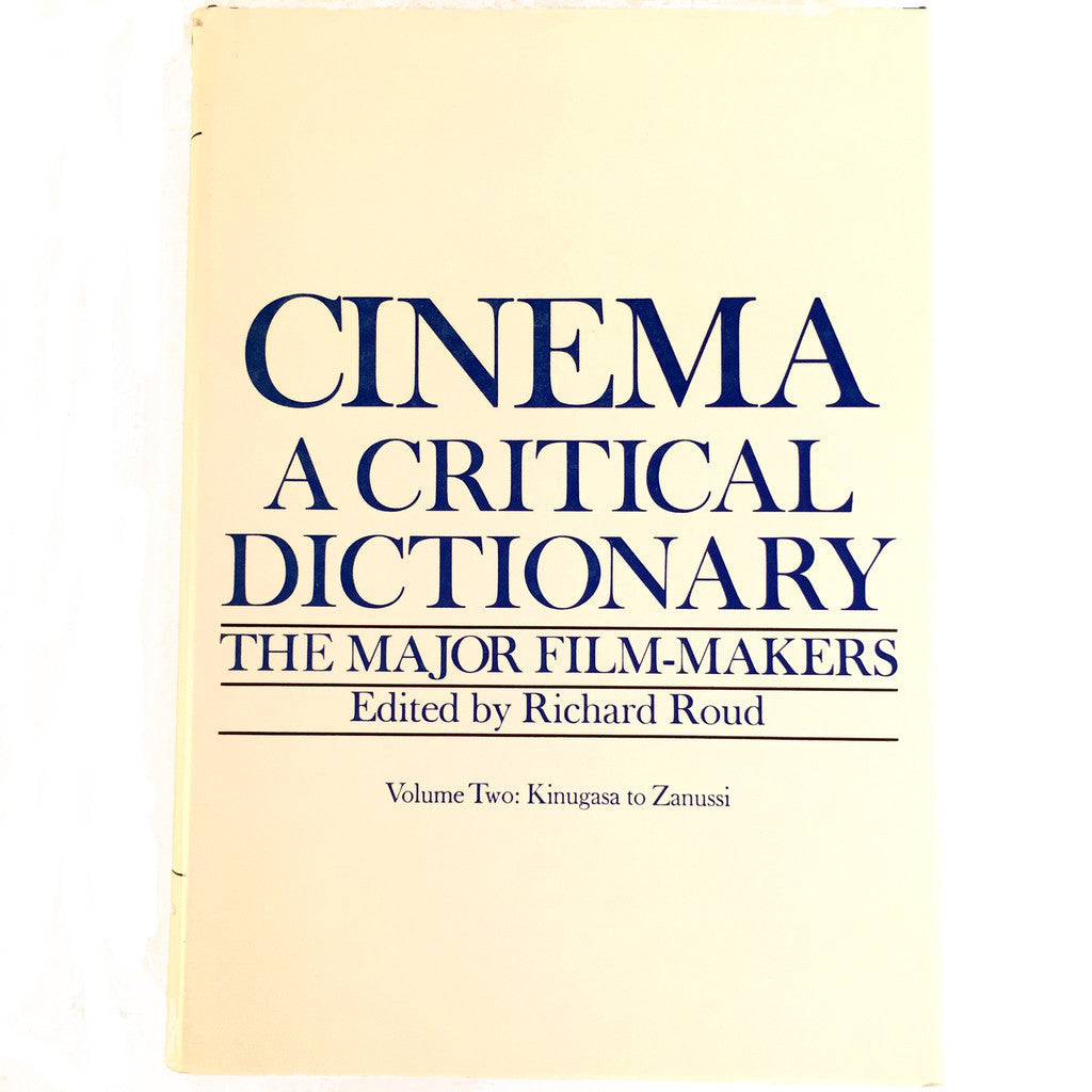 Cinema A Critical Dictionary volume 2 cover