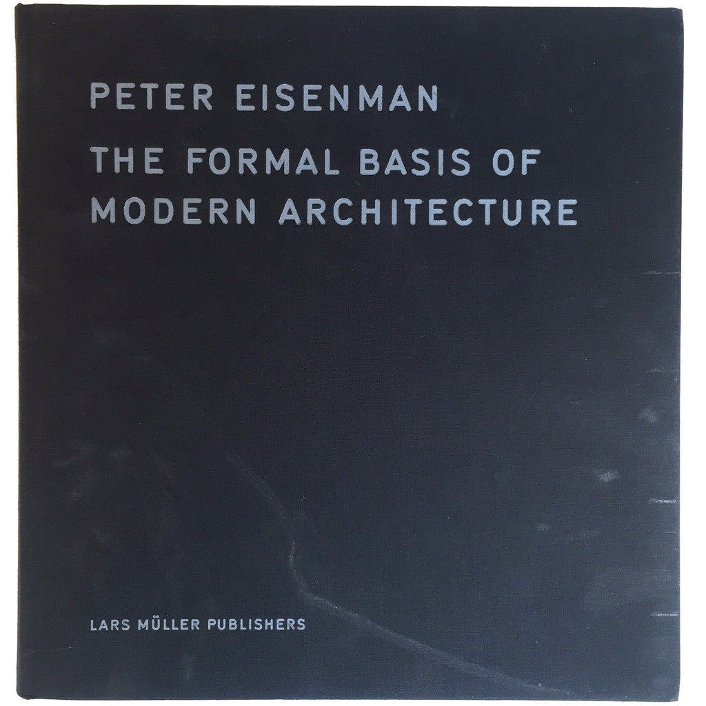 The Formal Basis of Modern Architecture Dissertation 1963, Facsimile cover