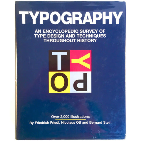 Typography: An Encyclopedic Survey of Type Design and Techniques Throughout History cover