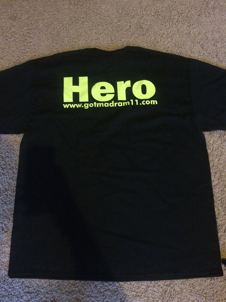 Black and Neon Got MadRam11 HERO T-shirt