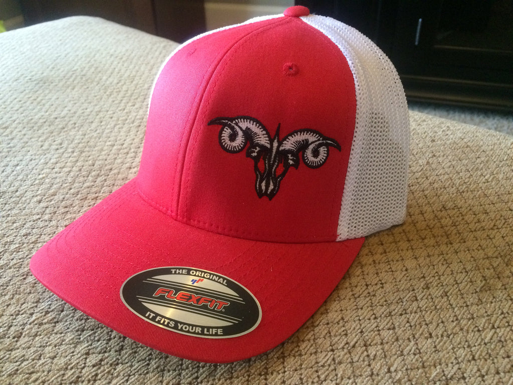 Red and White Truck Hat FlexFit