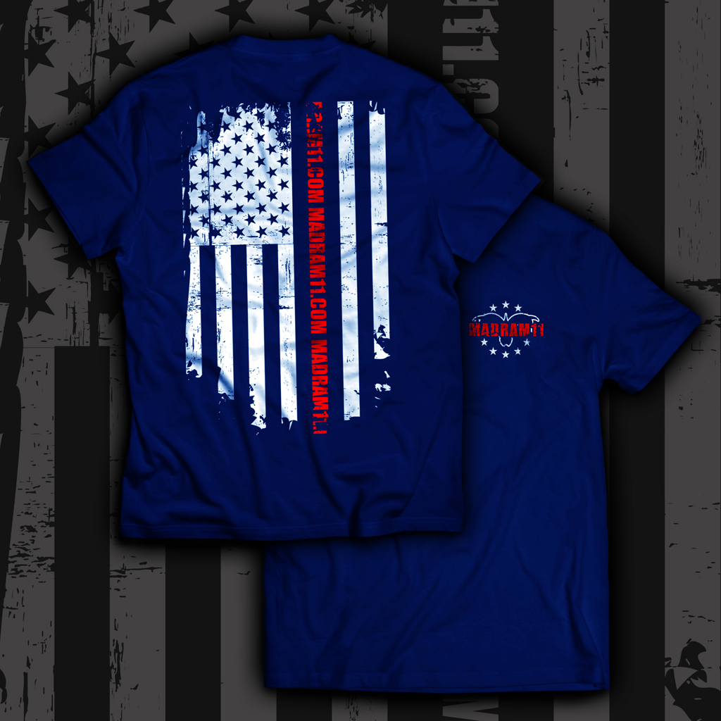 Blue AMERICAN FLAG SHIRT