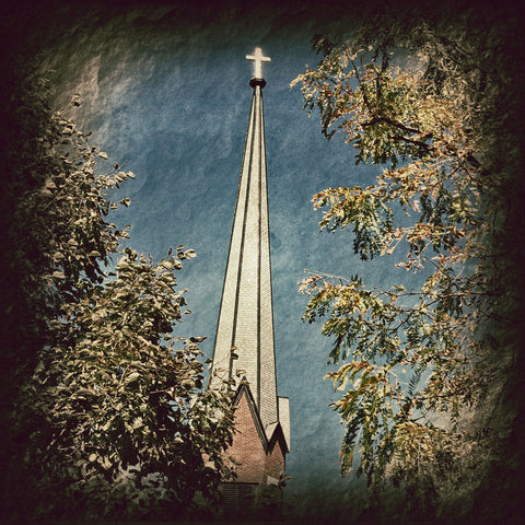 St. Patrick's of Bloomington - Steeple in Autumn