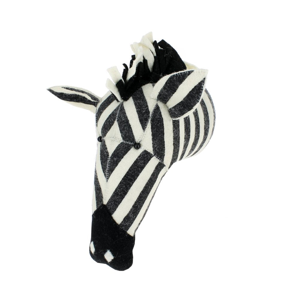 Large Zebra Head by Fiona Walker