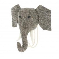 Hook Trunk UP Elephant by Fiona Walker