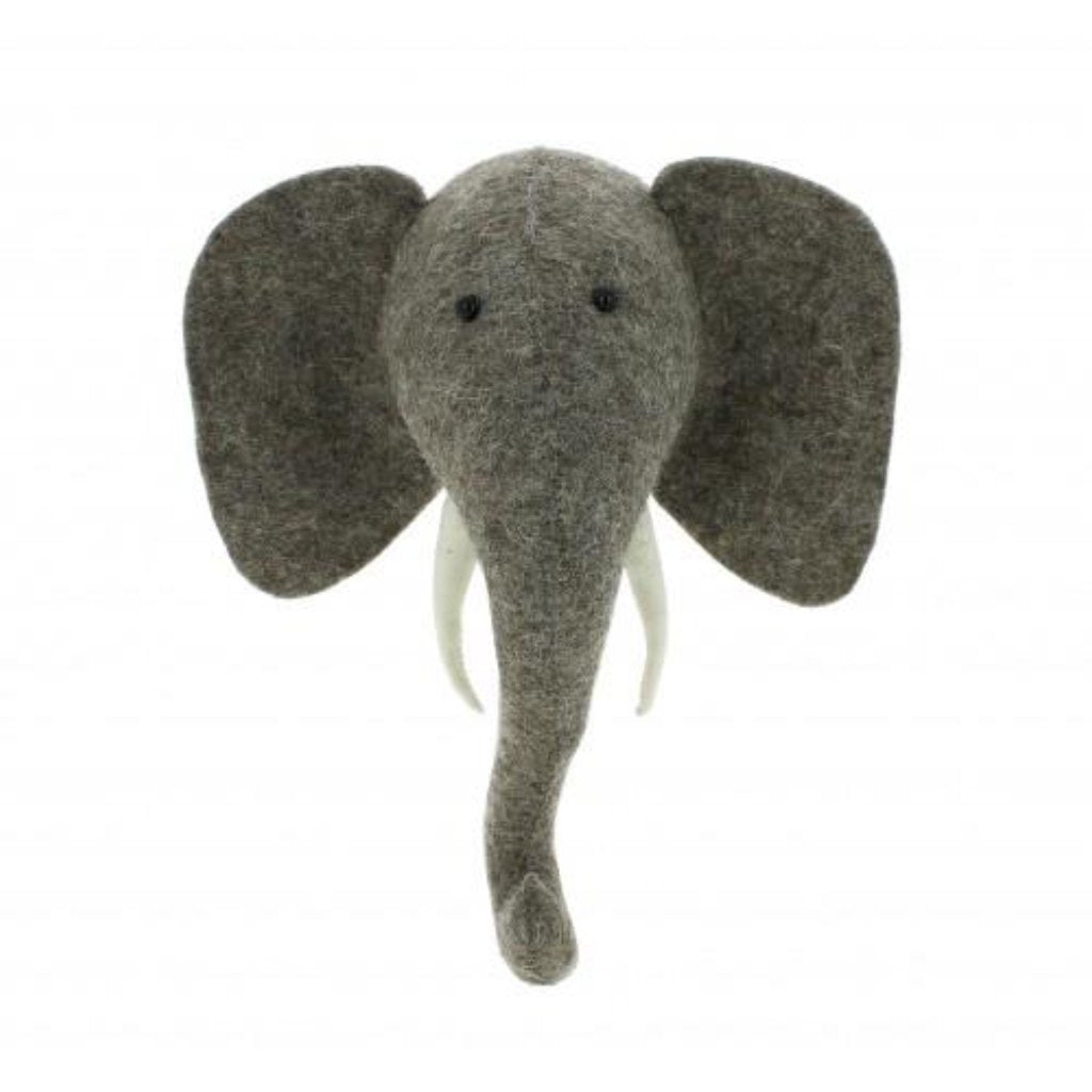 Mini Elephant Head by Fiona Walker
