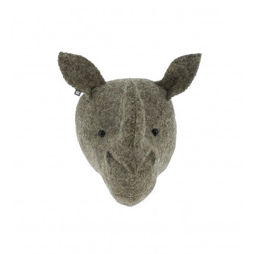Mini Rhino Head by Fiona Walker