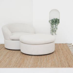 Brunswick Ottoman - Half Moon Footstool, CUSTOM MADE (No Returns) / كنبة