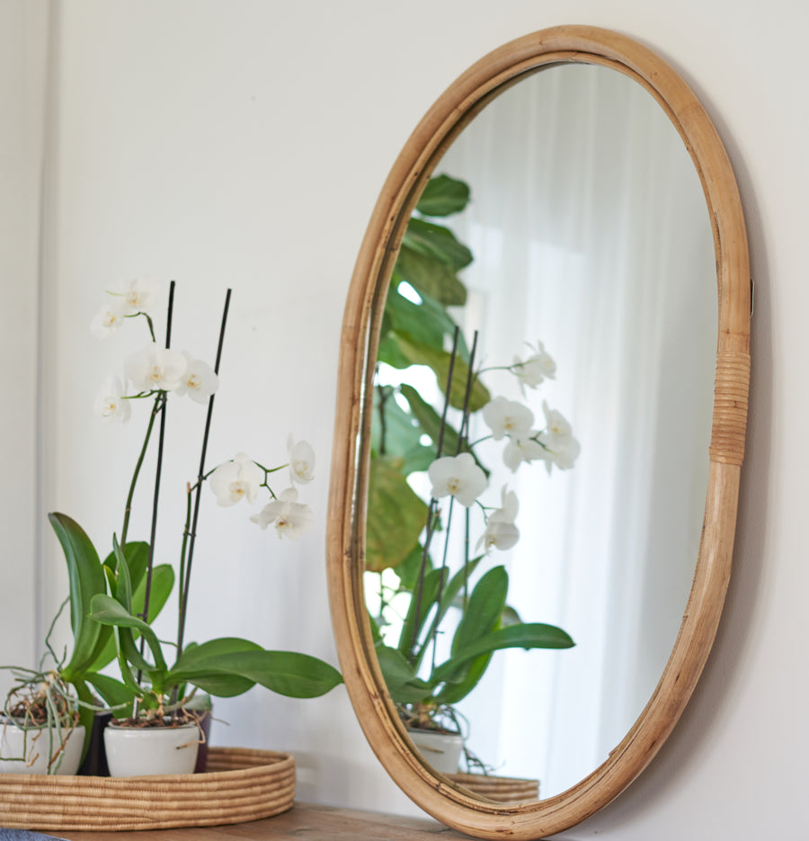 Classic Bamboo Mirror - Oval