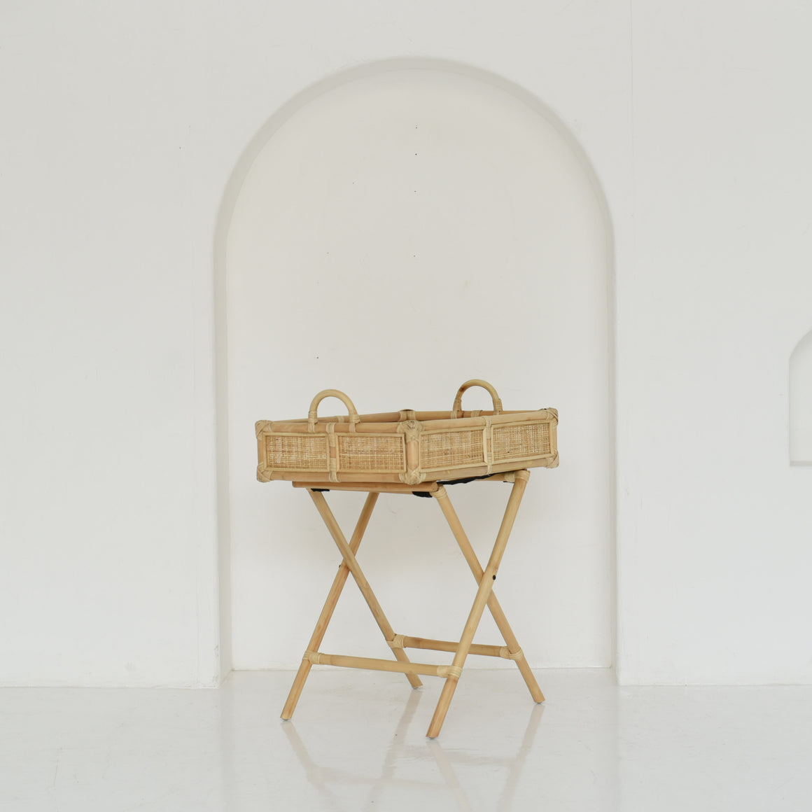 Bamboo Tray with Stand