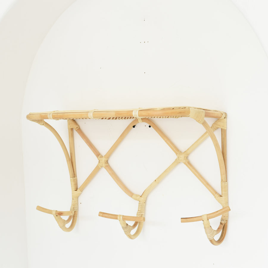 Bamboo Hooks with Shelf