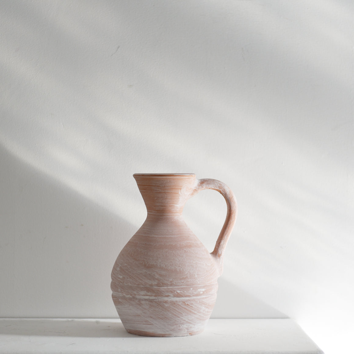 Earth Collection - Petra Jug, White Washed /سيراميك
