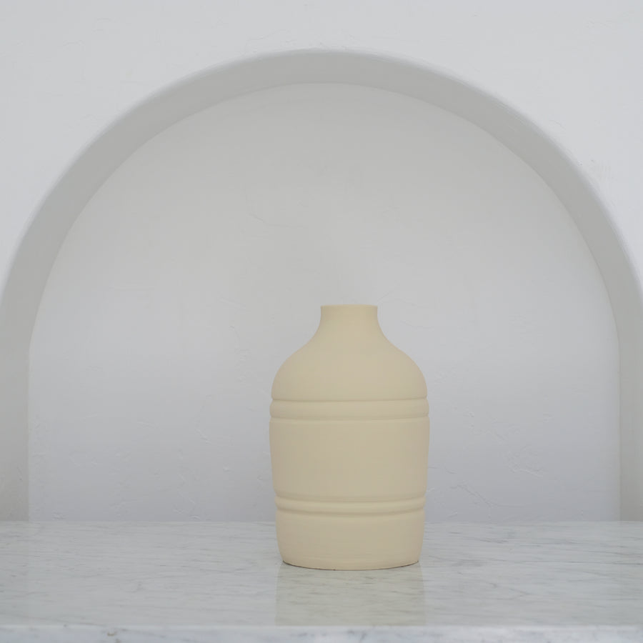 Earth Collection - Leah Vase, White Washed /سيراميك