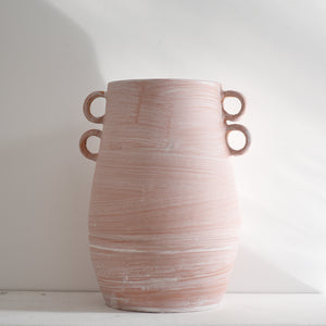 Earth Collection - Rani Vase, White Washed /سيراميك