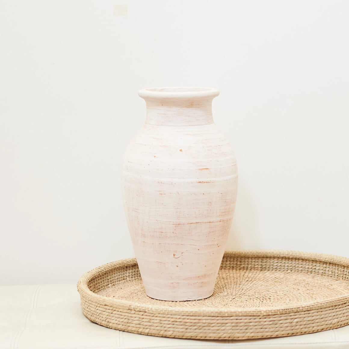 Earth Collection - Murni Vase, White Washed /سيراميك