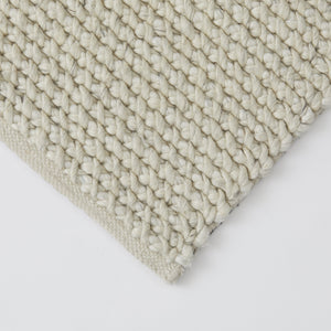 TRIBE Collection - Sea Salt Rug, Cross Weave Wool 2 x 3m / سجادة