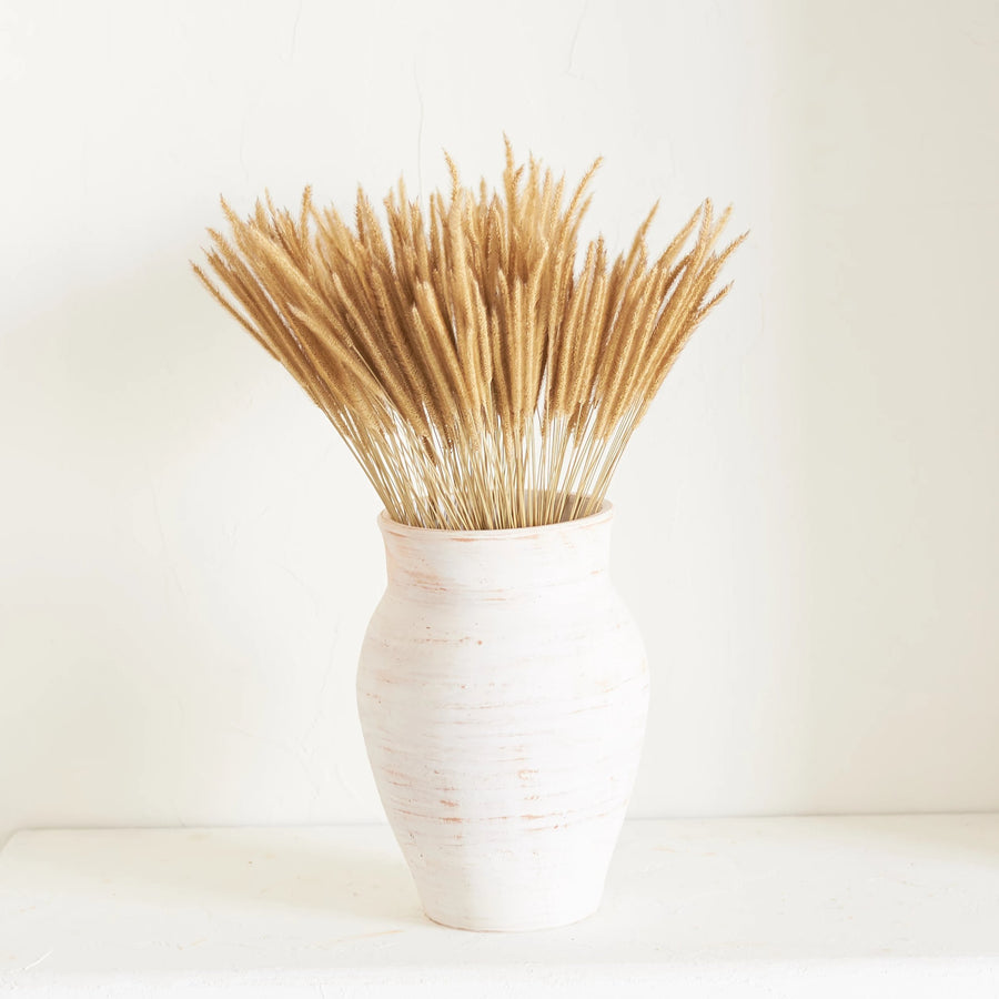 Earth Collection - Farah Vessel, White Washed / سيراميك