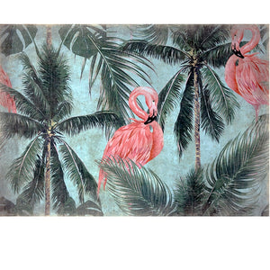 Luxe Banner Recycled Paper Print - Flamingo Lush