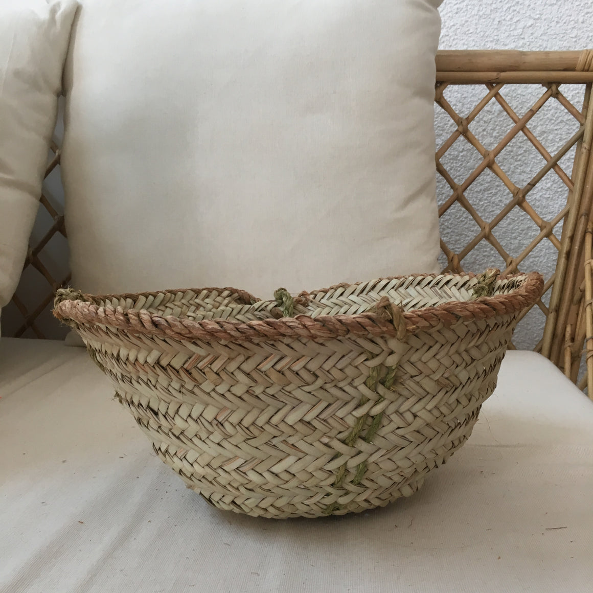 Jute Natural Hanging Basket, Mini