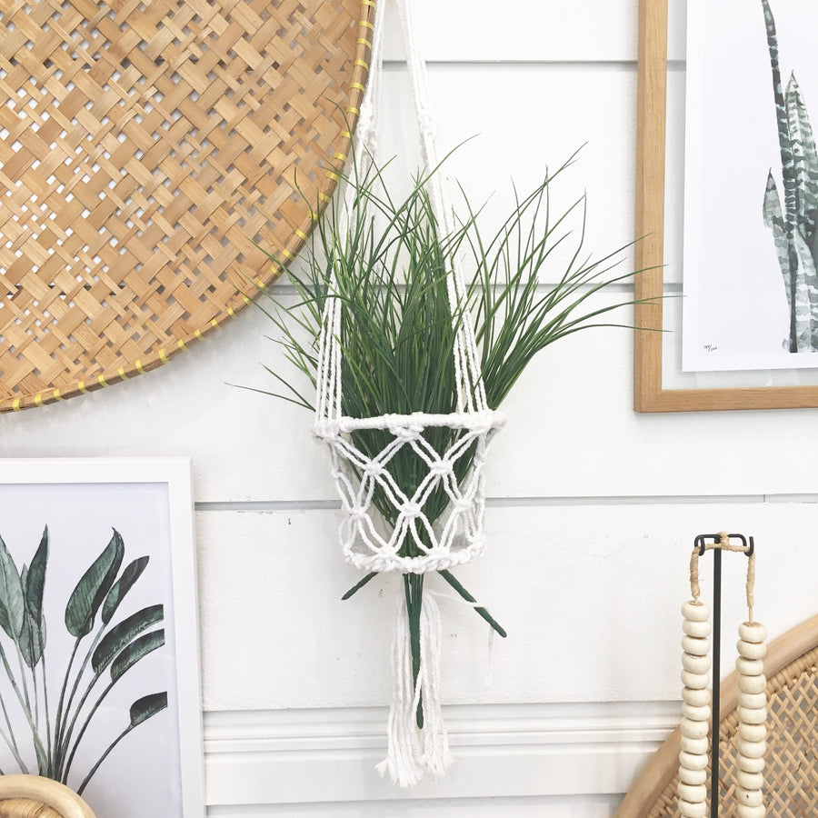 Macrame Pot Single