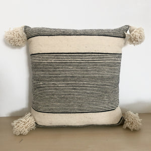 Cinnamon Thin & Thick Stripe Cushion / وسادة