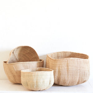 Wonky Weave Basket - Natural