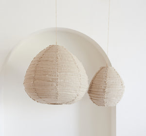 Lumiere Light Shades, Lino Fringe Shade - Natural