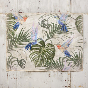 Luxe Banner Recycled Paper Print - Bird Botanical