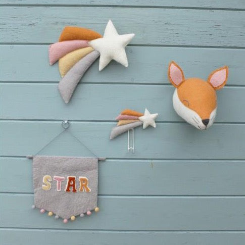 Pastel Wall Shooting Star by Fiona Walker