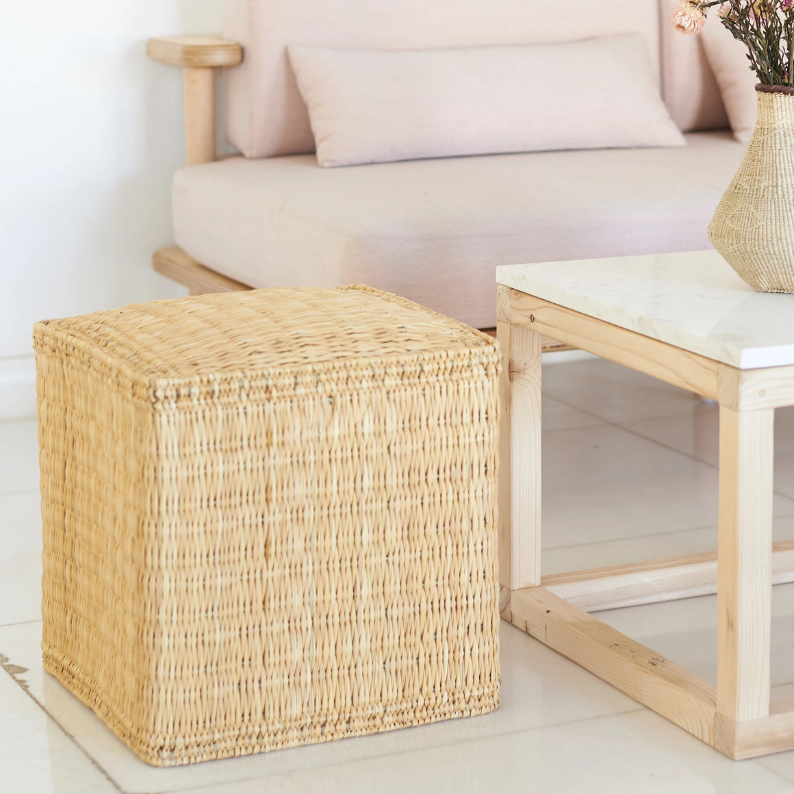 Woven Cube Stool