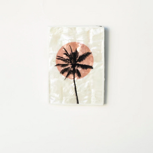 AHOY - Mini Tile, Mother of Pearl Pink Sun Palm / بلاط