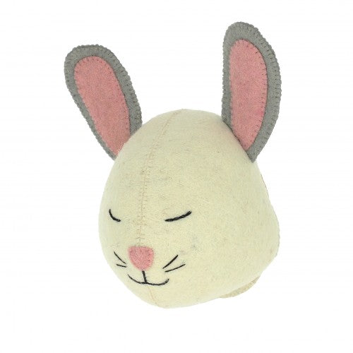 Sleepy Bunny Head by Fiona Walker